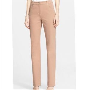 ST. JOHN Marie Straight Leg Twill Career Pants 2